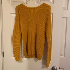 🍓Forever 21 Girl Mustard Yellow Knit Sweater